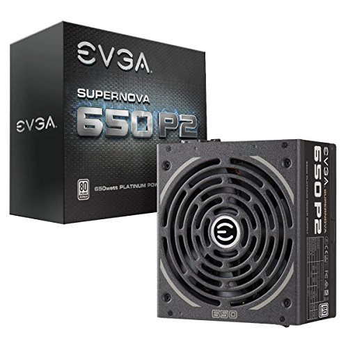 EVGA SuperNOVA 650 P2, 80+ PLATINUM 650W, totalmente modulare, EVGA ECO Mode, garanzia 10 anni, include Power On Self Tester GRATIS alimentatore 220-P2-0650-X2 (UE)