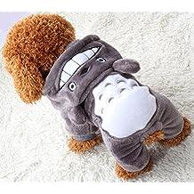 Doggie Style Store Grey Super Soft Warm Fleece Animal Character Dog Pet Cat Onesie Pyjamas - 5 Sizes