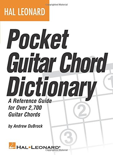 Hal Leonard Pocket Guitar Chord Dictionary Bam - Amp Pocket Guitar