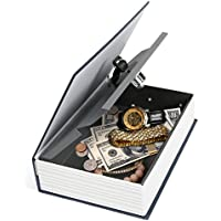 """iMounTek–seguridad en el hogar acero diccionario libro seguro (key-locked, dos llaves, Diversion Safe, """"El nuevo diccionario de inglés,"""" joyas/monedas/Dinero/objetos de valor)–azul oscuro"""