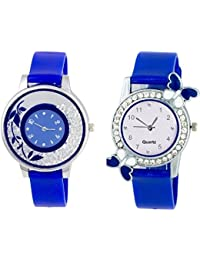 SPINOZA K-365K33 New ButtrFly Case Desing And Fancy Flower On Glass Watchs For Girls And Women