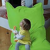 Kindersitzsack QSack Outdoorer, mit Innensack und deutscher Qualitätsfüllung, 100x140 cm (apfelgrün)