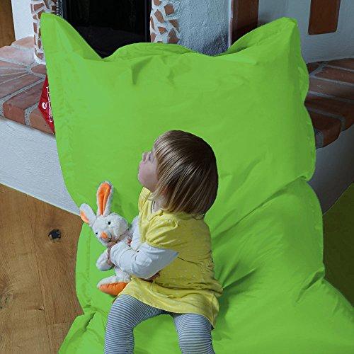 QSack Kindersitzsack Outdoorer, mit Innensack und Deutscher Qualitätsfüllung, 100x140 cm...