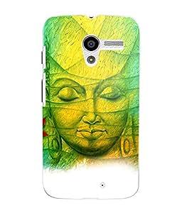 Fuson 3D Printed Lord Buddha Designer Back Case Cover for Motorola Moto X - D562