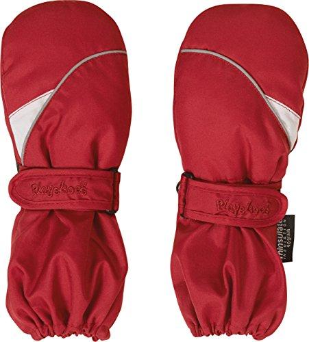 Warme Winter-handschuhe (Playshoes Kinder Fäustlinge mit Thinsulate-Technik und langem Schaft warme Winter-Handschuhe mit Klettverschluss, rot, 2)