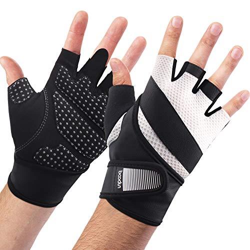boildeg Fitness Handschuhe Trainingshandschuhe,Leicht Gewichtheben Ideal zum Gewichtheben,Crossfit Training und Radsportanzug für Damen und Herren (Weiß, S)