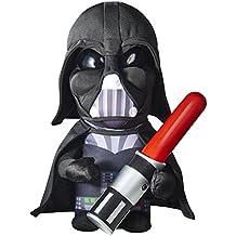 Star Wars - Peluche y luz de noche con espada láser, color negro (Worlds Apart 257SRW)