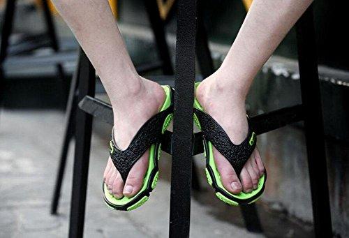 GLTER Männer Flip Flops Strand Schuhe Breathable Sandalen Sommer neue Hausschuhe Mode Pool Schuhe Green