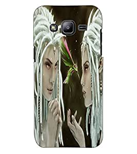 ColourCraft Angel Design Back Case Cover for SAMSUNG GALAXY J2 DUOS