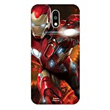Hamee Marvel Civil War Captain America Iron Man Licensed Hard Back Case Cover For Motorola Moto G4 Plus / G Plus 4th gen. Cover – Design 6