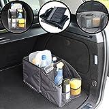 Stimo24 Auto Kofferraum Box/Aufbewahrungs Tasche mit vielen Fächern (ZUSAMMENFALTBAR) im Trendigen Melange-Design