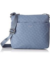 Velluto Stampa Mia Shoulderbag Mhz, Womens Shoulder Bag, Grau (Light Grey), 9x25x26 cm (B x H T) Joop