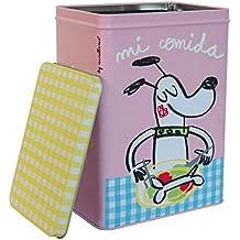 Laroom Caja Metálica diseño Mi Comida para Perro Pequeña, Metal,, ...