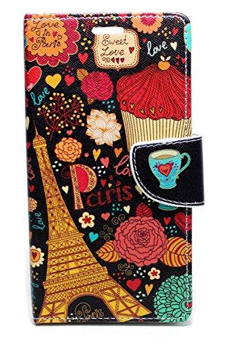 Sharp Icon Fancy Printed Designer Leather Flip Wallet Back Cover Case for HTC Desire 728