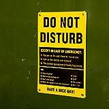 getDigital Blechschild DO NOT Disturb, Metallschild, Dekoschild, Wandschild, Poster für Nerds, Programmierer und Künstler, 20x30cm