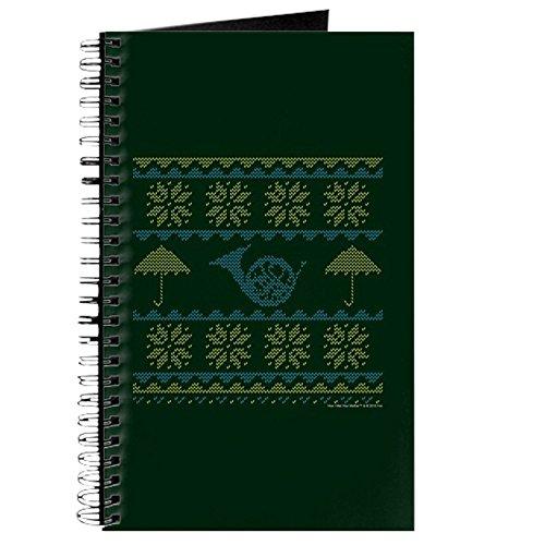 CafePress - HIMYM Ugly Christmas Sweater Full Bleed - Spiralgebundenes Tagebuch, persönliches Tagebuch, blanko