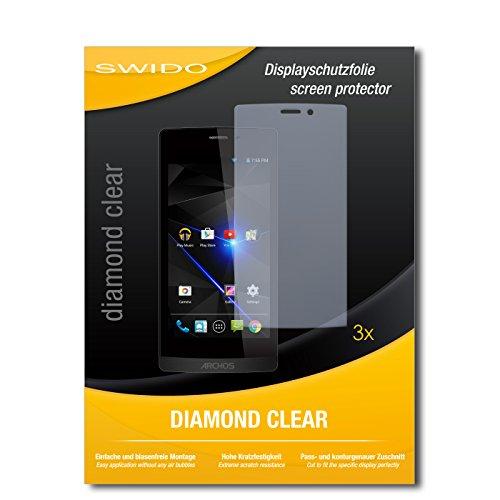 SWIDO 3 x Schutzfolie Archos 50 Diamond Bildschirmschutz Folie DiamondClear unsichtbar