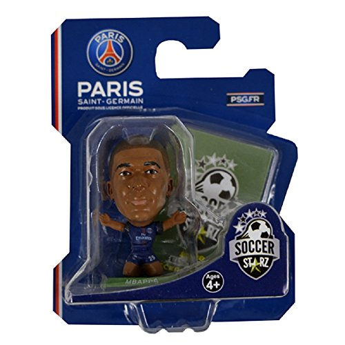 SOCCERSTARZ Home Kit 2018 Version Paris St Germain Kylian Mbappe Figurine, SOC1199