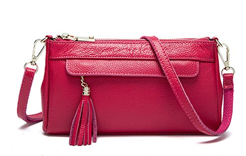 Mme Simple D'embrayage En Cuir RoseRed