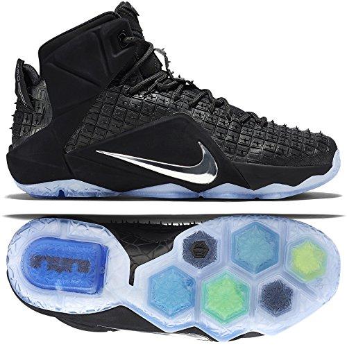 Nike Lebron XII EXT Hommes Synthétique Baskets - - black chrome black 001