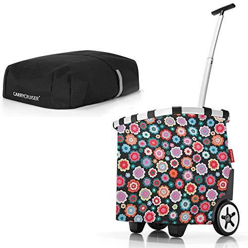 reisenthel Angebot Einkaufstrolley carrycruiser Plus gratis Cover Abdeckung und Sichtschutz! (Happy Flowers)