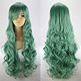 "F.Dorla High Quality Long Hair Heat Resistant Curly Cosplay Costume Wig Party Fancy Dress Wigs Fashion Glamour Hairpiece + Wig Cap 32""/80cm"