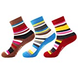 3 Pairs Women Walking Hiking Socks - No Blister, Breathable, Warm, Moisture Wicking, Full Terry Cushion Inside - for Outdoor Sports Running Trekking Cycling Camping Golf Gym - Ladies/Girls UK Size 3-7