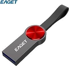 Comaie EAGET U80 USB-Stick (16 GB, modisch, USB 3.0, Schlüsselanhänger, U-Disk, Stiftlaufwerk) für MacBook Pro Laptop Smart Phone TV