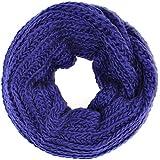 Distressed écharpe tubulaire douce en tricot large motif brodé longue plusieurs couleurs