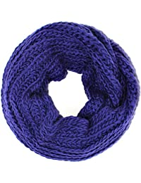 Distressed Écharpe-tube douce en tricot à grosse maille Nombreuses couleurs Foulard