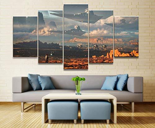 rkmaster-5 Malerei Stars War Movie Poster Moderne Dekoration Wohnzimmer Wand Leinwanddruck Bild Malerei Leinwand 30 cm * 40 cm * 2 30 cm * 60 cm * 2 30 cm * 80 cm * 1 Kein Rahmen