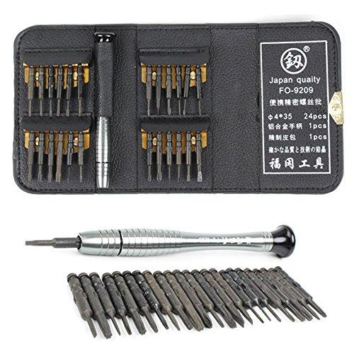 26 pcs Schrauberbit Set Gehärtet Schraubendreher Präzisions Mini Schraubenzieher Magnetisieren