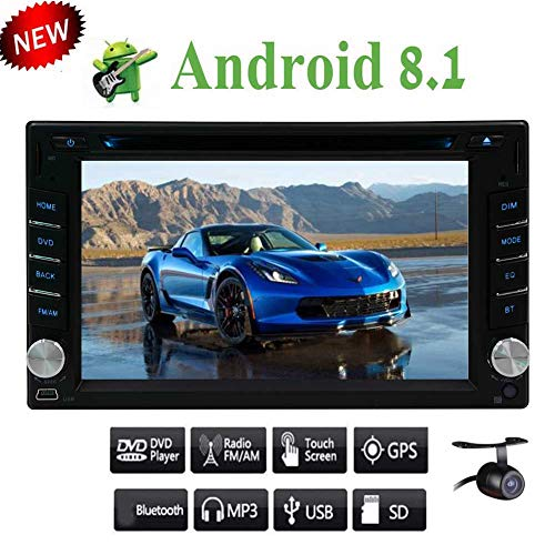 a Android 8.1 Doppel-DIN-Octa-Core-6.2 Zoll-Auto-Stereoanlage DVD-Player HD1080P Video WiFi 3G / 4G GPS Navigation Lenkung Wheeling Steuerung Bluetooth Fünf kapazitiver Touch ()