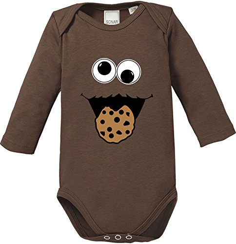 EZYshirt Cookie Monster Baby Body Longsleeve Bio Baumwolle