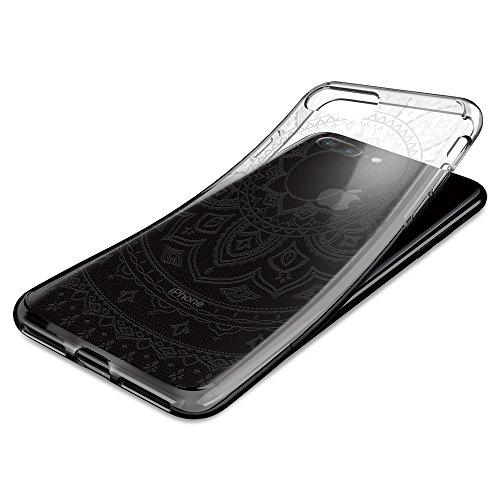 iPhone 7 PLUS Hülle, Spigen® [Liquid Crystal] Indische-Sonne Muster [Shine Clear] Soft-Flex Bumper-Style Premium-TPU Silikon Handyhülle / Passgenaues Tranparent Traumfänger Mandala-Design Motiv Schutz LC Shine Clear
