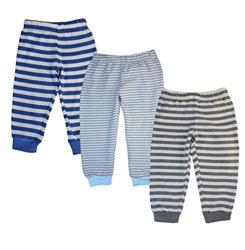 Baby Kleinkinder Hose von BFL Blau Grau gestreift 6-24 Monate Size 18-24 Monate