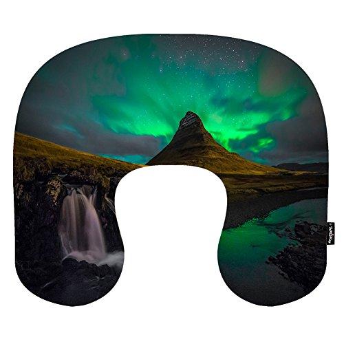 i-famuray-u-shape-car-neck-pillow-cushion-maternity-pillow-aurora-borealis-lights-northern-snow-wint