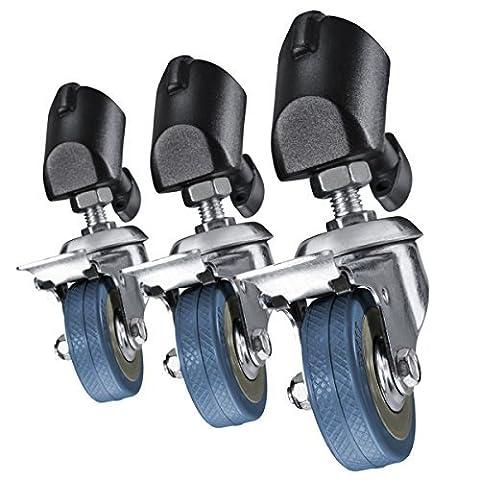 Walimex Pro Roulettes de trépied, ensemble de 3 pièces (pour trépieds avec un diamètre de pied de