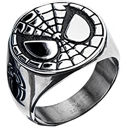 Spider-Man Marvel Comics Face Stainless Steel Ring Size 10