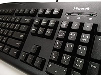 Microsoft® Wired Keyboard 200 (Árabe – Inglés) QWERTY 104 Key Negro USB