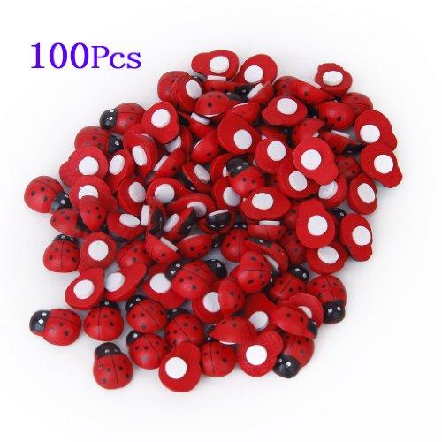 adesivi-spugna-toogoor-100-pezzi-piccoli-coleotteri-legno-con-spugne-sticker-coccinella-adesivi