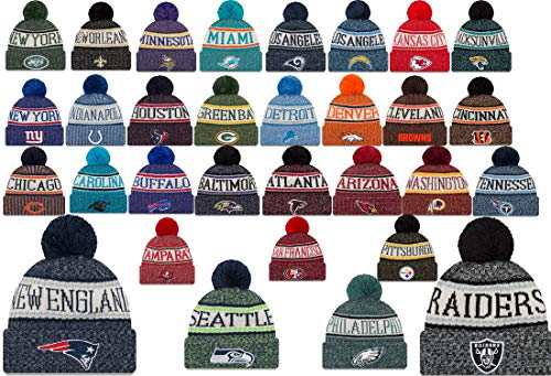 9 Sideline Beanie Cap Mütze mit CS Aufkleber - Raiders Seahawks Patriots, Atlanta Falcons #NB311, One-size-fitts-all ()