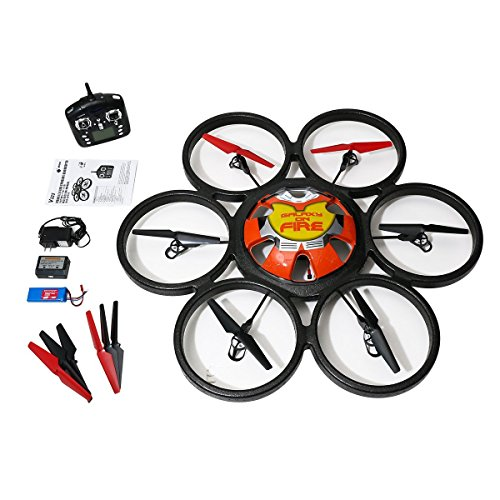 Creation® WL Toys Skywalker V323 80 cm Large Scale six-motor 2,4 gHz de 4 canales 6-Axis RC Hexacopter