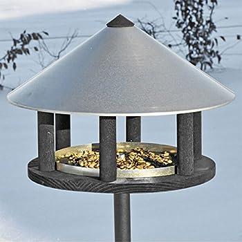 Vogelfutterhaus im exklusiven dänischen Design mit extra Vogelfutter - Vogelhaus Vogelstation Futterhaus Vogelhäuschen Futterhaus Vogelfutterstation