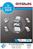 atFoliX Blackberry Pearl 3G 9105 Displayschutzfolie (3 Stück) - FX-Clear, kristallklare Premium Schutzfolie