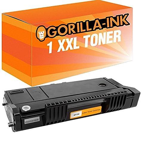 Gorilla-Ink® 1 Toner XXL kompatibel für Ricoh SP 100 Black Aficio SP100 E SP100 SP100 SUE SP100 SF SP100 SU SP100 SFE SP110 Series SP112 E SP112 SP112 SFE SP112 SF SP112 SUE SP112 SU SP112 E