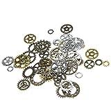 100Pcs Perlen Uhr Anhänger Steampunk-Satz mit Zahnräder für Basteln Schmuck