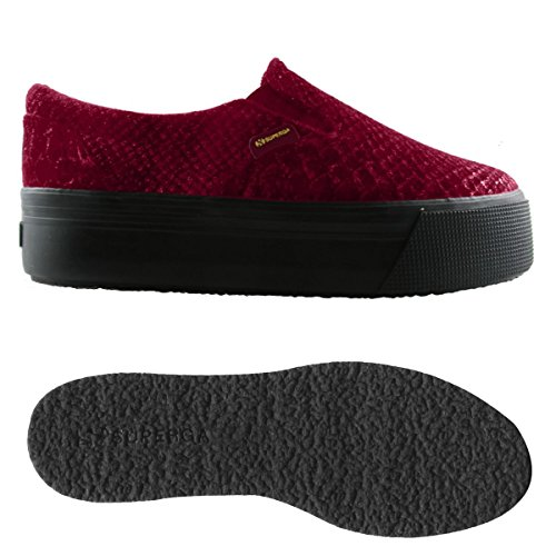 Superga Superga 2314-VELVETSNAKEMETW FULL RED BORDEAUX FULL RED BORDEAUX