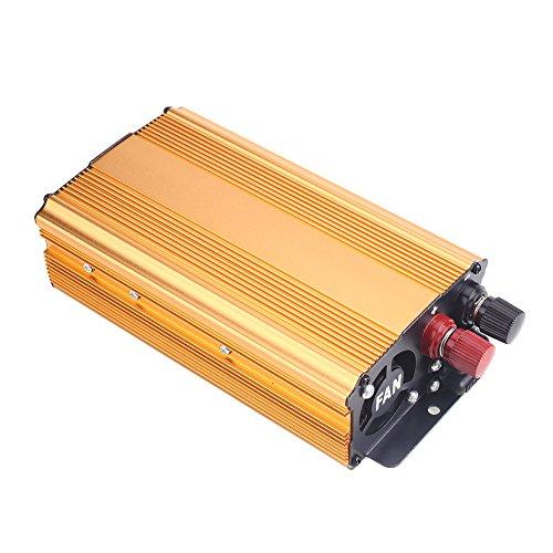 Sedeta Inversor de Corriente 1000W DC 12V a 220V AC Bancos de Potencia de vehículos para Acampar Convertidor de Cargador de Batería USB Dorado