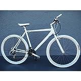 28er Alu Fitnessbike Herren Fahrrad Speedbike Shimano 21 Gang white